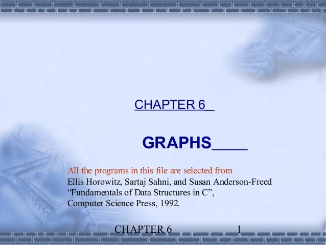 CHAPTER 6                   GRAPHSAll the programs in this file are selected fromEllis Horowitz, Sartaj Sahni, and Susan A...