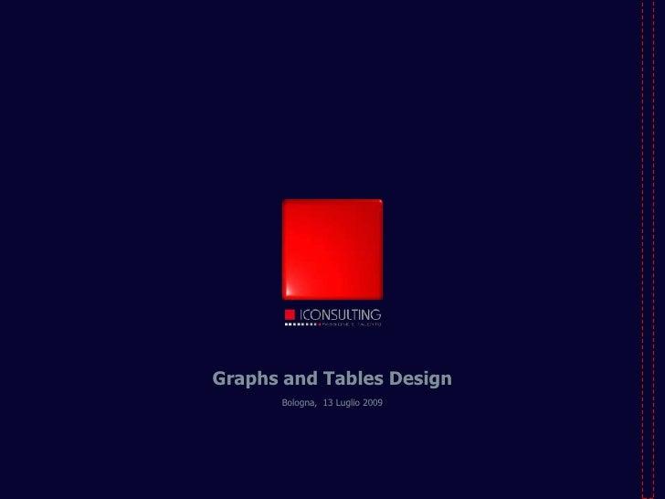 Graphs and Tables Design<br />Bologna,  13 Luglio 2009<br />