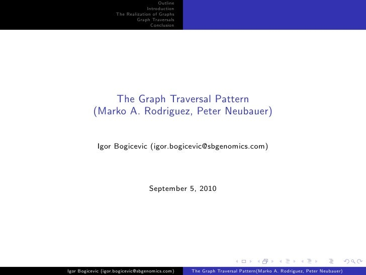 Outline                                   Introduction                     The Realization of Graphs                      ...