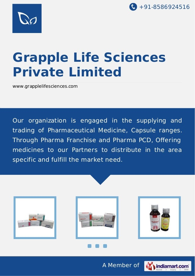 +91-8586924516 A Member of Grapple Life Sciences Private Limited www.grapplelifesciences.com Our organization is engaged i...