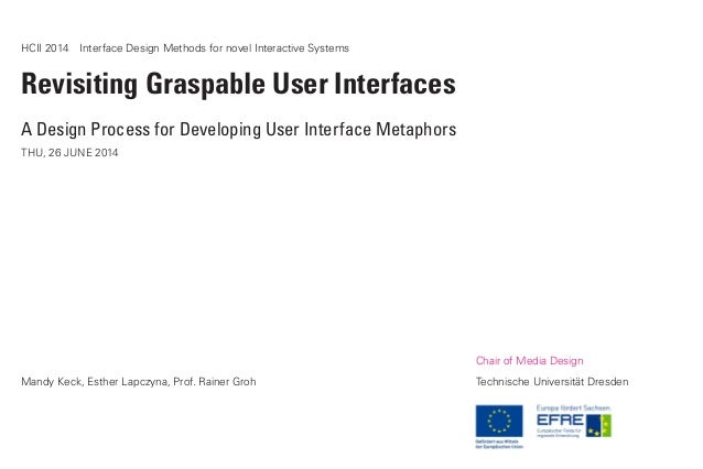 HCII 2014 Interface Design Methods for novel Interactive Systems Revisiting Graspable User Interfaces A Design Process fo...