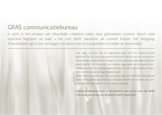 Jaarverslagen GRAS communicatiebureau