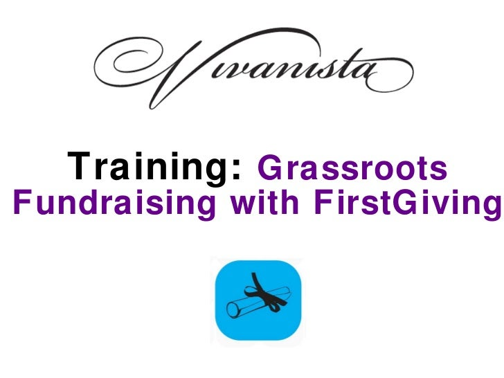 Training:  Grassroots Fundraising with FirstGiving