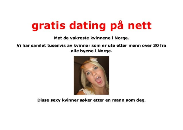 dating på nett gratis kåt dame