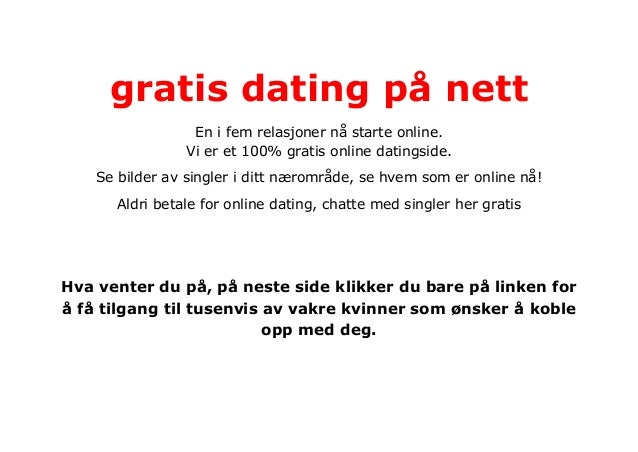 100 gratis dating på nett Kongsberg