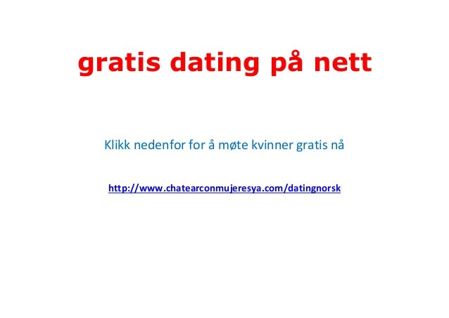 gratis kontakt dating på nett
