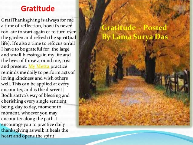 Gratitude GratiThanksgiving is always for me a time of reflection, how it's never too late to start again or to turn over ...