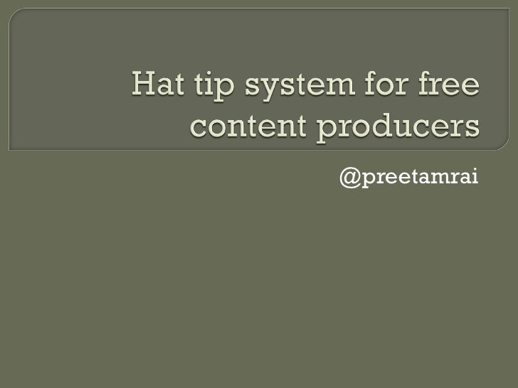 Hat Tip for Free Content