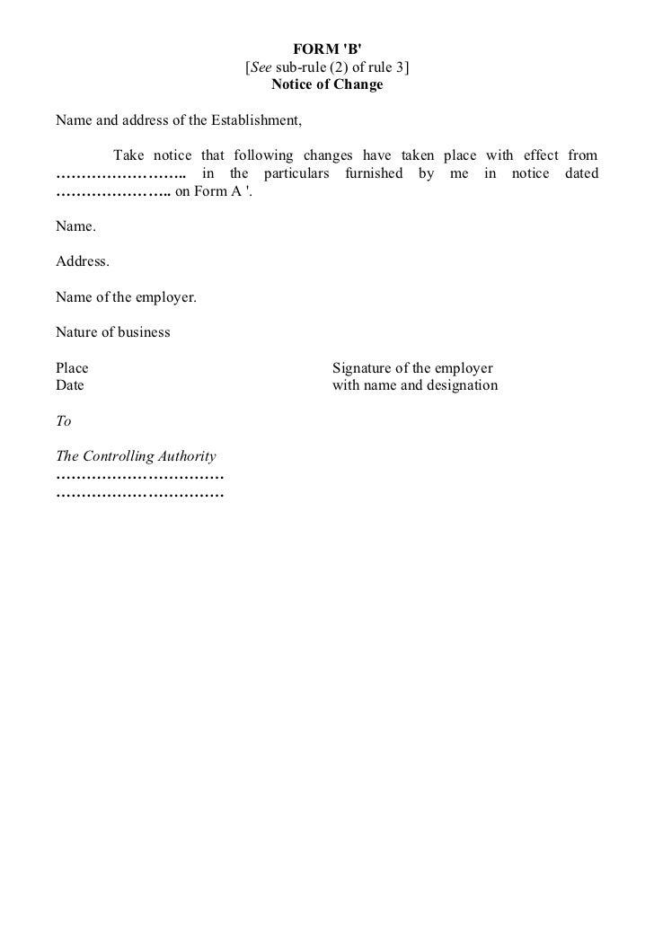 change of address notice sample