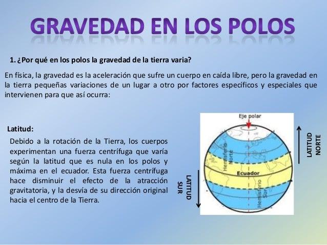 En física, la gravedad es la aceleración que sufre un cuerpo en caída libre, pero la gravedad en la tierra pequeñas variac...
