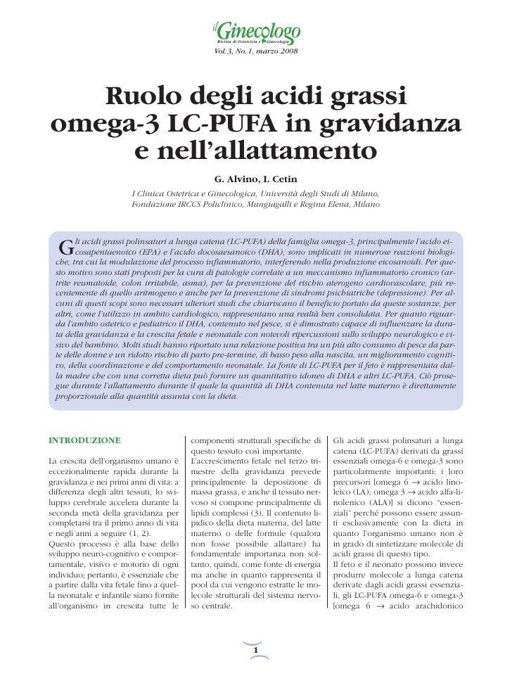 Rivista di Ostetricia e   Ginecologia                                                 Vol. 3, No. 1, marzo 2008   Ruolo de...