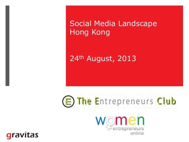Social Media Landscape Hong Kong - August 2013