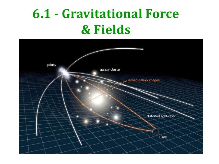 6.1 - Gravitational Force         & Fields