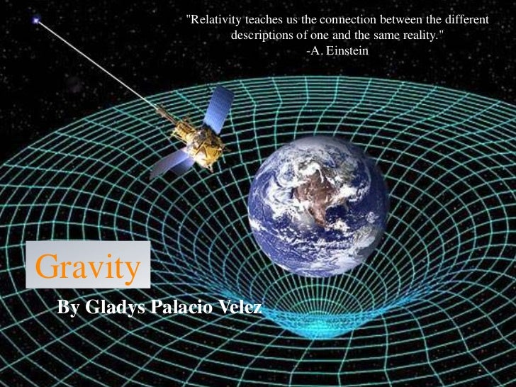 """""""Relativity teaches us the connection between the different                        descriptions of one and the same realit..."""