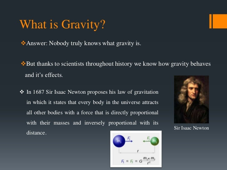 Gravity  Newtons law of gravity  Britannicacom