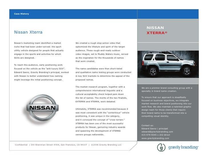 Gravity  Nissan  Xterra