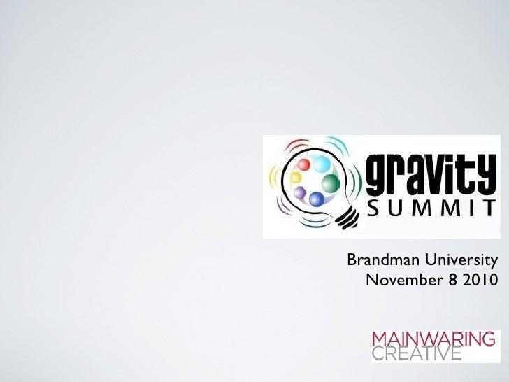Brandman University   November 8 2010