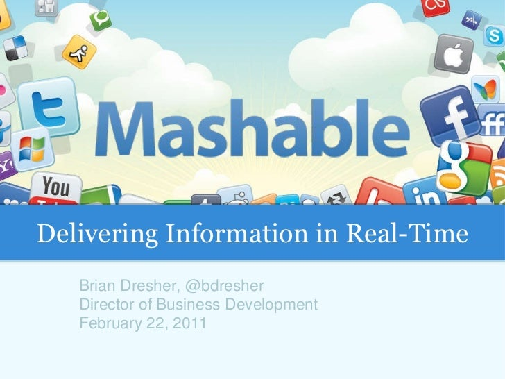 Brian Dresher, @bdresher Director of Business Development February 22, 2011 Delivering Information in Real-Time