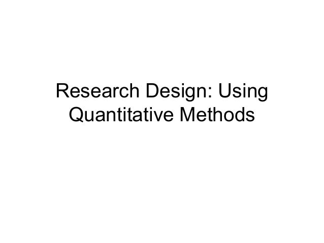 quantitative research design thesis