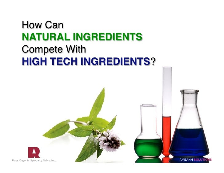 How Can  NATURAL INGREDIENTS Compete With  HIGH TECH INGREDIENTS?                                 AMEANN SOLUTIONS