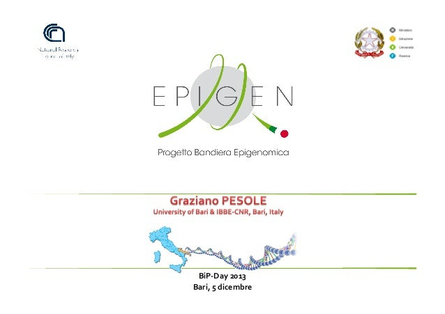 Graziano Pesole - il progetto EPIGEN