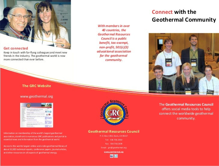 Geothermal Resources Council Social Media Flyer