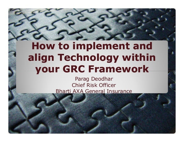 How to implement and align Technology within your GRC Framework