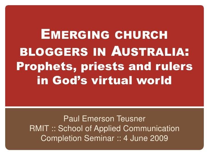 Completion seminar presentation