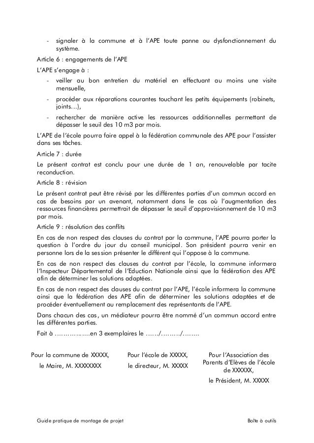 Exemple contrat de partenariat for Exemple contrat entretien espaces verts