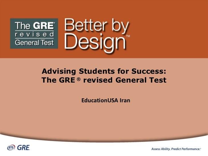 G R E Revised  General  Test Slides For  Ed U S A &  Fulbright  6 2011
