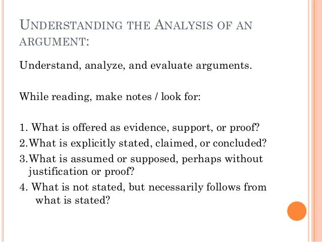 Argument analysis essay