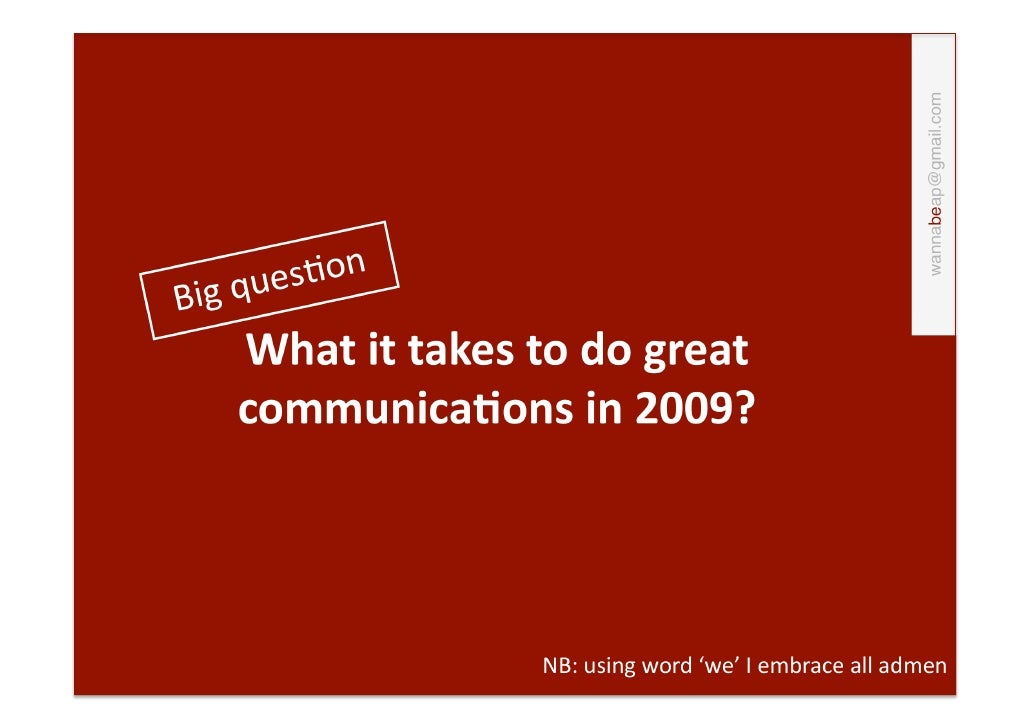 Great Communication 2009