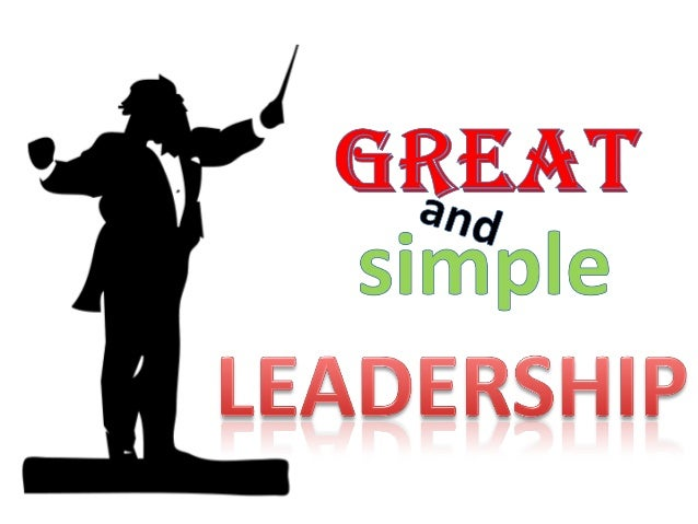 Great and simple leadership (on line)