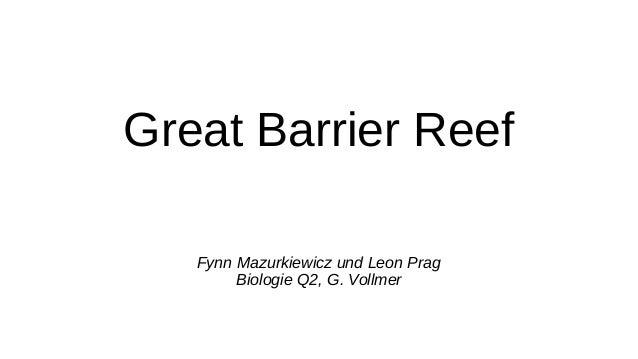 Great Barrier Reef Fynn Mazurkiewicz und Leon Prag Biologie Q2, G. Vollmer