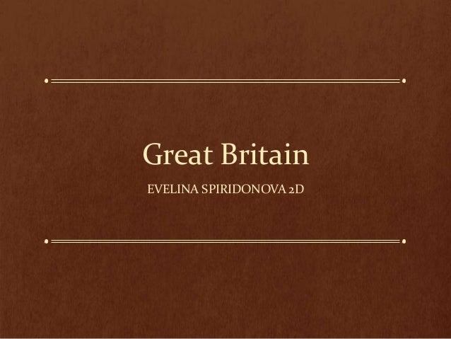 Great Britain EVELINA SPIRIDONOVA 2D
