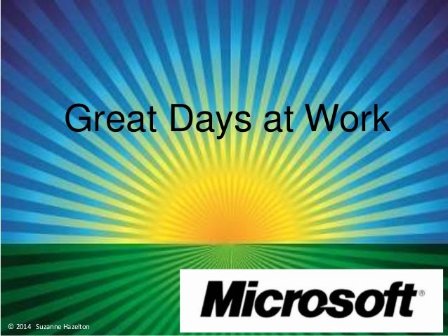 Tips for Great Days at Work