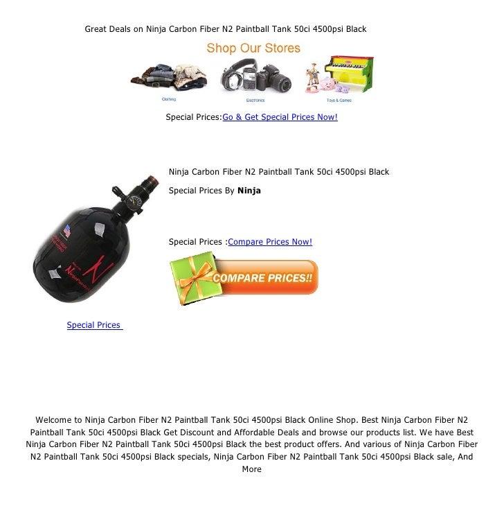 Great deals on ninja carbon fiber n2 paintball tank 50ci 4500psi black