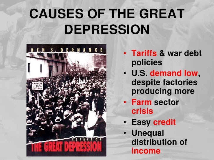Causes For The Great Depression Essay