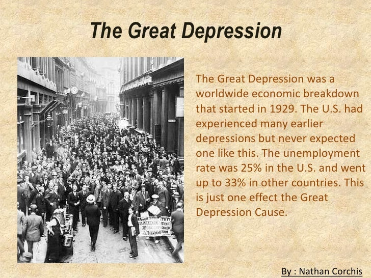 the history of the great depression and its effects 5 causes of the great depression the worst economic depression in us history the effects of the great depression were huge across the world.