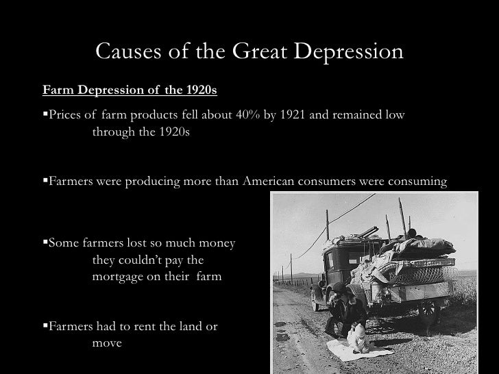 Short essay great depression