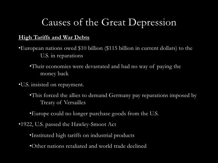 what were the causes of the great depression essay Perfect for students who have to write the great depression (1920–1940) essays sparknotes search menu what were some of the causes of the great depression.