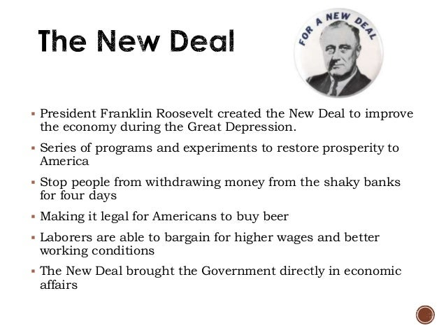 the new deal during the great depression In franklin roosevelt and the new deal by william e leuchtenburg, the economic plight of the depression is seen in the three years of herbert hoover's presidency, the bottom had dropped out of the stock market and industrial production had been cut more than half.