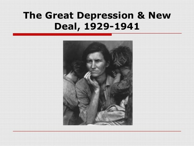 new deal and great depression essay Roosevelt's new deal and the great depression essay land out of production according to government regulation, thousands of black sharecroppers and tenant farmers.