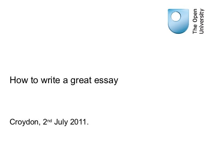 great essays 2011