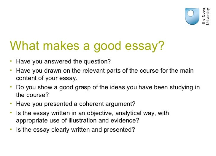 what makes a good written essay Infographic: what makes a strong college essay discover why these two real college essays got students in the door of johns hopkins university.