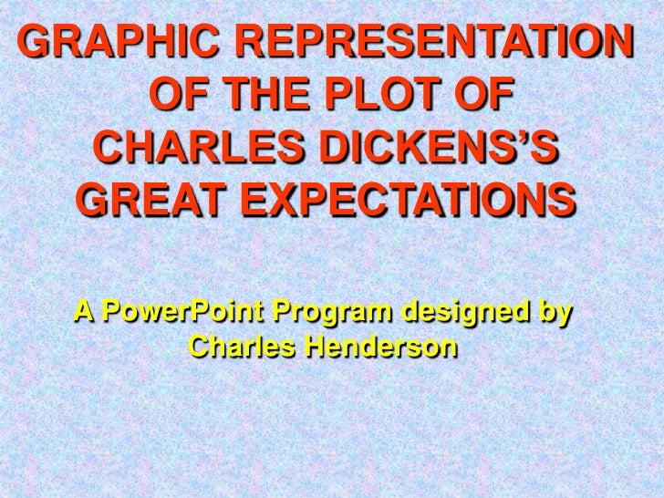 GRAPHIC REPRESENTATION<br /> OF THE PLOT OF<br />CHARLES DICKENS'S<br />GREAT EXPECTATIONS<br />A PowerPoint Program desig...