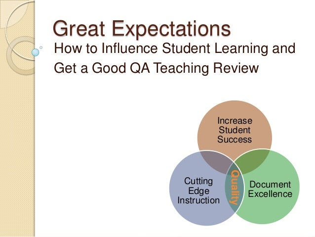 Great Expectations How to Influence Student Learning and Get a Good QA Teaching Review Increase Student Success Document E...