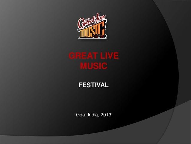 Great live music goa 2014