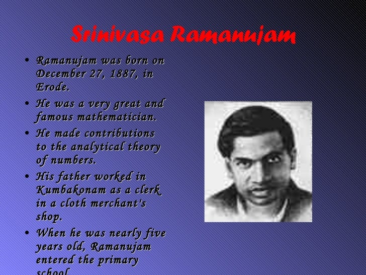 Famous indian mathematicians