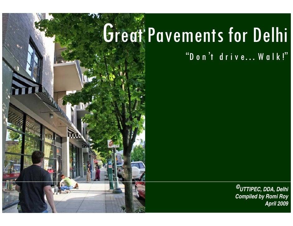 Great Pavements Delhi Romi Roy 040409